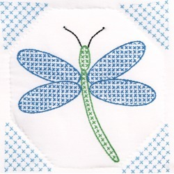 Dragonfly - Stamped White Quilt Blocks 9 inches X9 inches  12/Pkg found on Bargain Bro from A Cherry On Top Crafts for USD $8.00