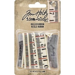 Idea-Ology Ruler Ribbon - Tim Holtz - Advantus