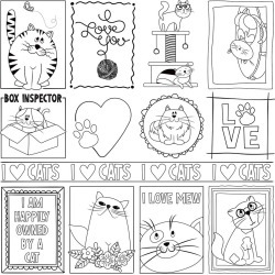 Black and White Color Me Cats Sheet - Whiskers - Photoplay found on Bargain Bro India from A Cherry On Top Crafts for $0.79