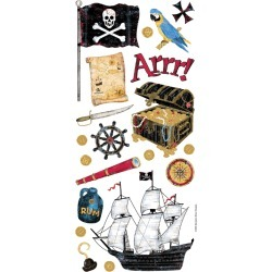 Pirate - Sandylion Stickers/Borders Packaged