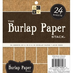 The Burlap Natural 6 x 6 Paper Stack - Dies Cuts With A View