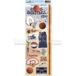 Basketball 2 Stickers - Paper House Productions