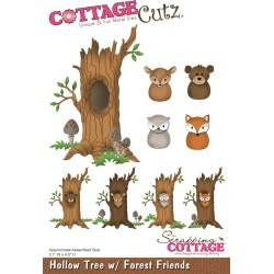 Hollow Tree W/ Forest Friends, 3.1 inches X4.5 inches  - CottageCutz Die found on Bargain Bro from A Cherry On Top Crafts for USD $17.44