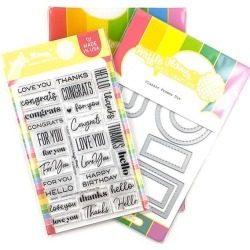 Classic Sentiments Stamp & Die Set - Waffle Flower Crafts found on Bargain Bro India from A Cherry On Top Crafts for $36.00