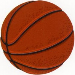 Basketball Patch - Mrs Grossman's Stickers
