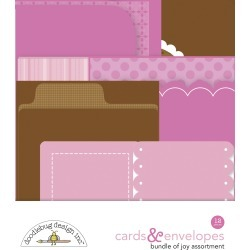Baby Girl Cards & Envelopes - Doodlebug found on Bargain Bro Philippines from A Cherry On Top Crafts for $6.99