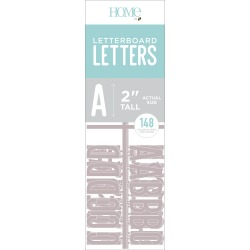 "Gray - DCWV Letterboard Letters & Characters 2"" 148/Pkg"