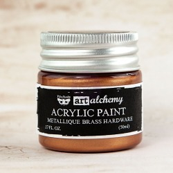 Brass Hardware Metallique Acrylic Paint - Art Alchemy - Finnabair