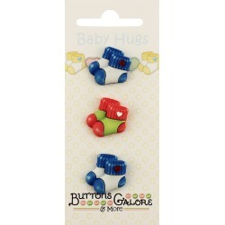 Baby Booties Baby Hugs Buttons
