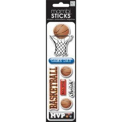 Basketball Chipboard Stickers - Me And My Big Ideas