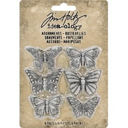 Butterflies Metal Adornments - Tim Holtz found on Bargain Bro India from A Cherry On Top Crafts for $6.99