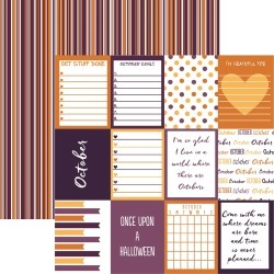October Paper - Planit Now - Reminisce found on Bargain Bro from A Cherry On Top Crafts for $0.79
