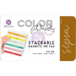 Sepia Color Philosophy Magnetic Stackable Ink Pad - Prima found on Bargain Bro India from A Cherry On Top Crafts for $6.99