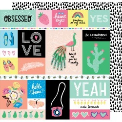 Officially Obsessed Paper - Sunshine & Good Times - Amy Tangerine found on Bargain Bro from A Cherry On Top Crafts for USD $0.45