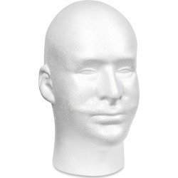 White - Styrofoam Head EPS Male Bulk