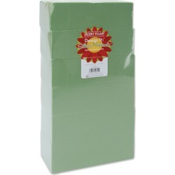 Green - Dry Foam Blocks 2.625 inches X3.5 inches X7.875 inches  6/Pkg