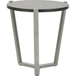 Alera Round Occasional Corner Table, Black/Silver