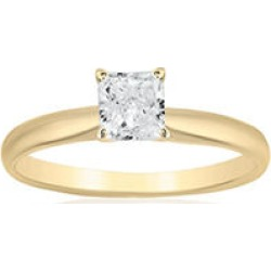 Superior Quality Collection 1 CT. T.W. Princess Shaped Diamond Solitaire Ring in 18K Yellow Gold (I, VS2)9