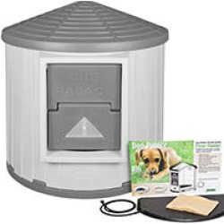 ASL Solutions Insulated Colossal Round Barn CRB Dog Palace with Floor Heater, Gray found on Bargain Bro Philippines from Sam's Club for $379.98