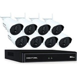 Night Owl 8 Channel 1080p Wireless Smart Security System with 8 Wireless Infrared IP Cameras and 1 TB Hard Drive found on Bargain Bro India from Sam's Club for $549.00