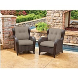 Member's Mark Agio Heritage 2-Pack Patio Club Chairs with Sunbrella® Fabric