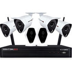 Night Owl 6-Channel 4K Hybrid Security System with 1TB Hard Drive, 4-4K Wired & 2-1080p Wireless Cameras found on Bargain Bro India from Sam's Club for $499.00