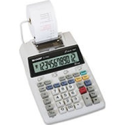 Sharp EL1750V LCD Two-Color Printing Calculator, 12-Digit LCD, Black/Red