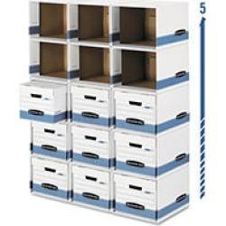 Bankers Box File Cube Box - Legal/Letter - White/Blue