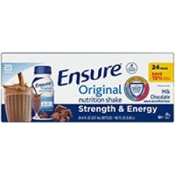 Ensure Original Nutrition Chocolate Meal Replacement Shakes with 9g of Protein (8 fl. oz, 24 ct.)