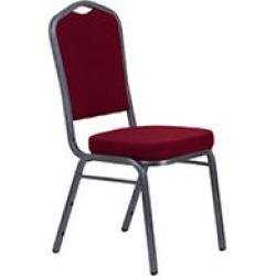 Crown Back Banquet Chair - Burgundy Fabric - 40 pk