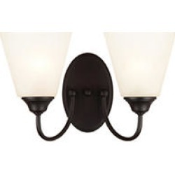 Hardware House Galveston 2 Light Wall Fixture - Black found on Bargain Bro India from Sam's Club for $31.98
