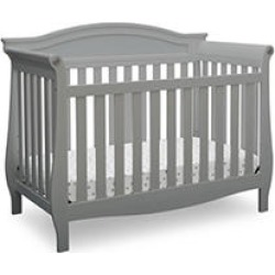 Delta Children Lancaster 4-in-1 Convertible Crib, Gray