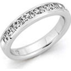 2.00 ct. t.w. 14 KARAT WHITE GOLD Channel-Set Round Dia Band Sz 8.5 (H-I, I1) found on Bargain Bro Philippines from Sam's Club for $2499.00