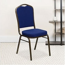 Crown Back Banquet Chair - Navy Fabric - 4 pk.