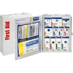 First Aid Only Medium Metal Smart Compliance First Aid Cabinet with Food Service w/o Medications, Class A (25 Person