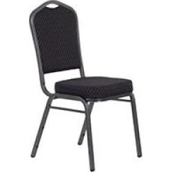 Crown Back Banquet Chair - Black Fabric - 40 pk.