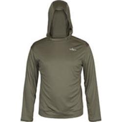 Habit® Men's Hooded Performance Layer Long Sleeve Shirt, Green Large