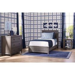 Delta Children Homestead 3pc Twin Room-In-A-Box, Rustic Grey
