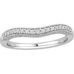 0.15 ct. t.w. 14K White Gold Contour Band with Round Brilliant Diamonds with a Milgrain Finish (H-I, I1) - Size 9 found on Bargain Bro Philippines from Sam's Club for $299.00