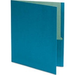 Earthwise by Oxford - Earthwise 100% Recycled Paper Twin-Pocket Portfolio - Blue
