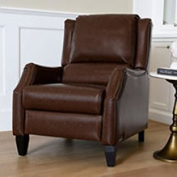 Simon Pushback Recliner, Brown