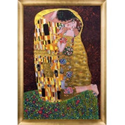 Gustav Klimt The Kiss Full View Hand Painted Oil Reproduction found on Bargain Bro India from Sam's Club for $299.88
