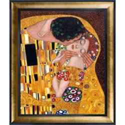 Gustav Klimt The Kiss Hand Painted Oil Reproduction found on Bargain Bro Philippines from Sam's Club for $299.88