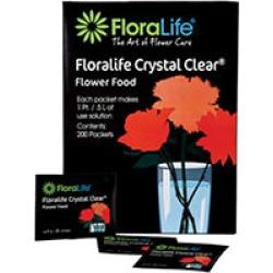 FloraLife Crystal Clear Fresh Cut Flower Food 300, Powder Packets (1,000 ct.)