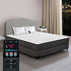 Dual Digital Princeton Low Profile Tight Top Full Air Bed and Foundation Set