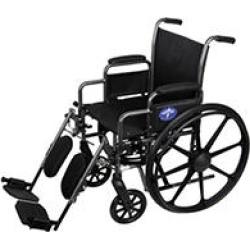Medline K3 Basic Wheelchair with Desk Length, Removable Armrests and Elevating Leg Rests (16