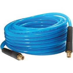 Primefit Polyurethane Air Hose with Field Repairable Ends - 1/4-Inch by 50-Foot (200-PSI)