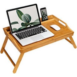 Rossie Home Bamboo Media Bed Tray, Natural found on Bargain Bro India from Sam's Club for $36.98
