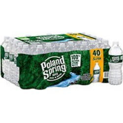 Poland Spring 100% Natural Spring Water (16.9oz / 40pk) found on Bargain Bro Philippines from Sam's Club for $5.48