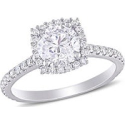 Elegance by Allura 1.5 CT. T.W. Diamond Halo Engagement Ring in 14k White Gold 8